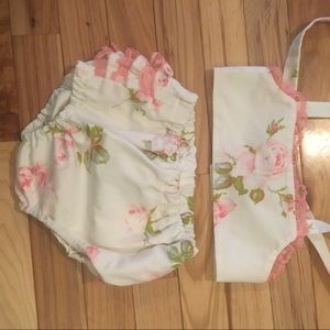 Other - Brand New floral ruffle swimwear (18 months) .
